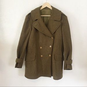 VINTAGE | WW2 1940's Oversized Peacoat